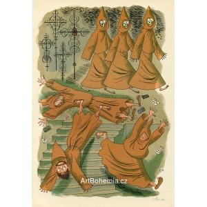 Mniši na schodech, opus 781