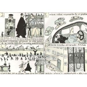 Théseus (Vražda na niti) - Mythus VI: komplet 28 litografických komiksů na 16 str.