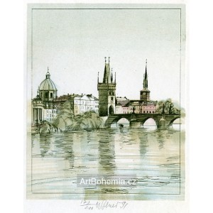 Karlův most s mosteckou věží