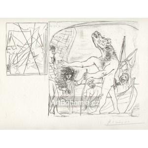 Minotaure aveugle, guidé par une fillette I (Suite Vollard) (1934), B.222