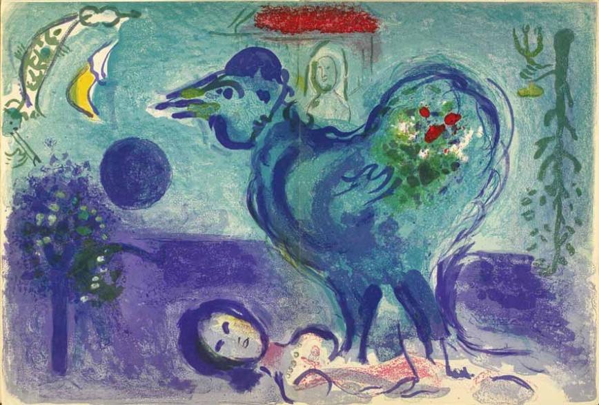 Marc Chagall - Paysage au coq, opus 208